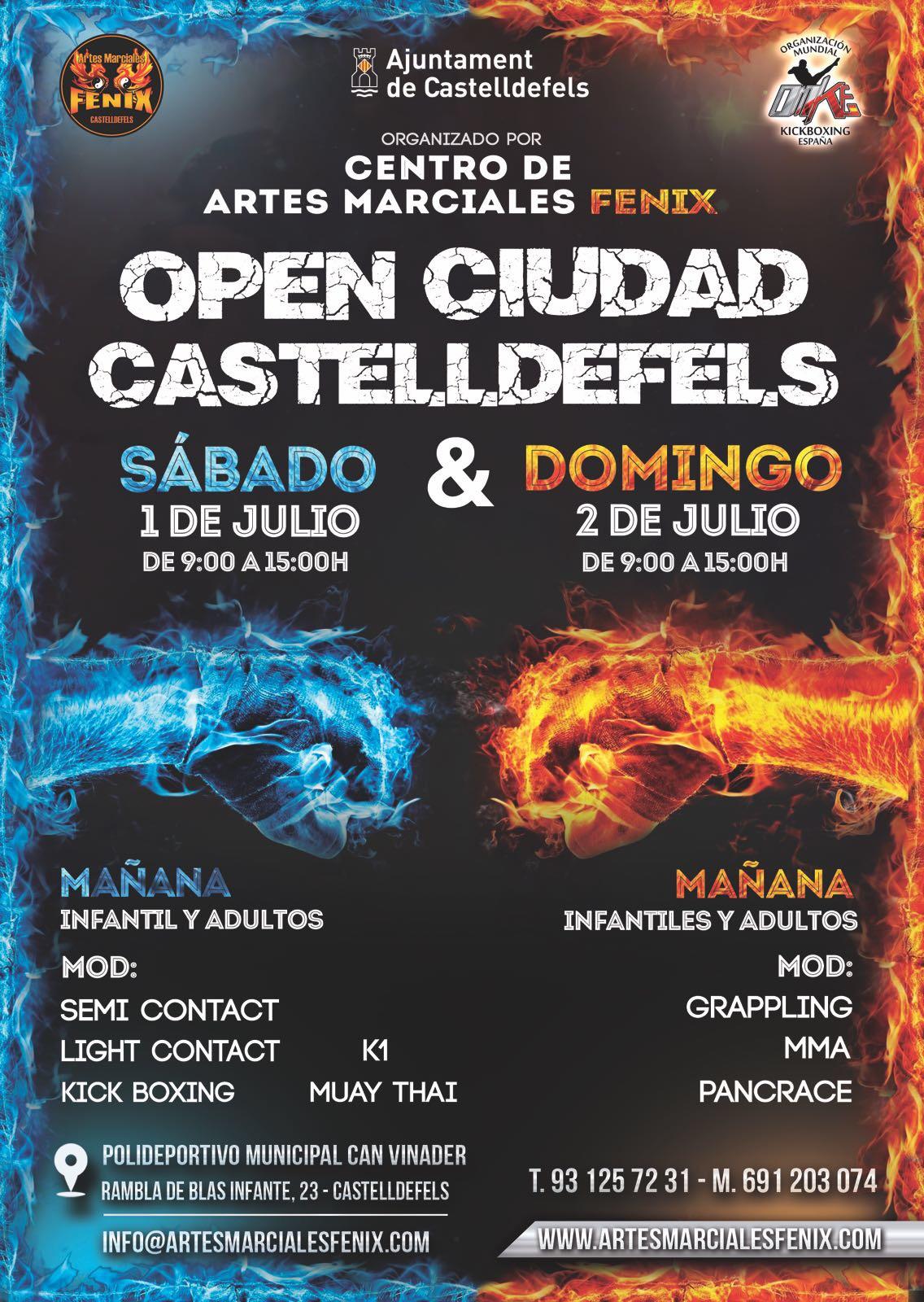 open ciudad castelldefels